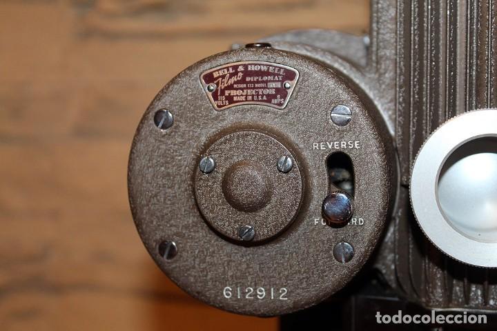Antigüedades: ANTIGUO PROYECTOR BELL & HOWELL DIPLOMAT - 16mm - EN SU CAJA ORIGINAL - MUY BUEN ESTADO - Foto 17 - 214882676
