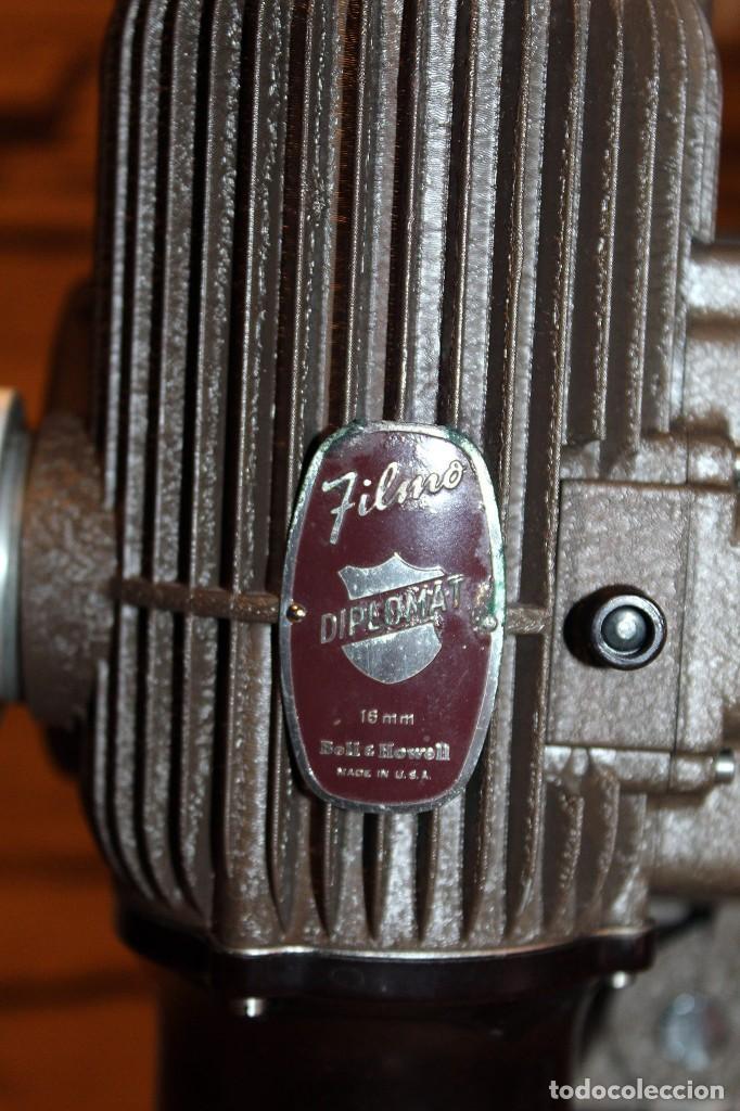 Antigüedades: ANTIGUO PROYECTOR BELL & HOWELL DIPLOMAT - 16mm - EN SU CAJA ORIGINAL - MUY BUEN ESTADO - Foto 20 - 214882676