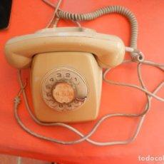 Teléfonos: TELÉFONO SOBREMESA CTNE - CITESA MÁLAGA - CON RUEDA - COLOR BEIG - AÑOS 70 - VER FOTOS.. Lote 214899950