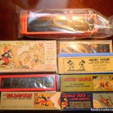 Antigüedades: INTERESANTE LOTE DE DIAPOSITIVAS LINTERNA MAGICA , LA MAYORIA DISNEY 30S , VER DESCRIP.. Lote 214926638