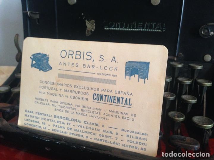 Antigüedades: Máquina de escribir Continental - Foto 7 - 214932796