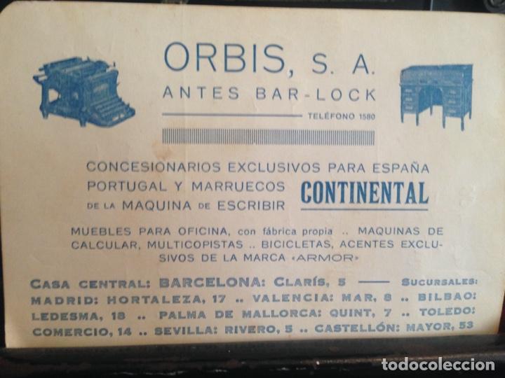 Antigüedades: Máquina de escribir Continental - Foto 8 - 214932796