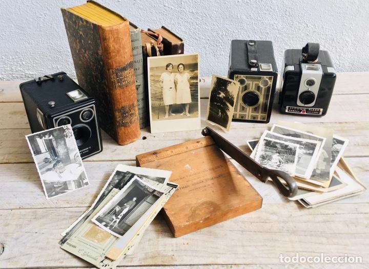 Antigüedades: CURIOSA GUILLOTINA PARA FOTOS MINI CIZALLA DE MADERA Y CUCHILLA DE HIERRO N1 KODAK TRIMMING BOARD - Foto 12 - 214960357