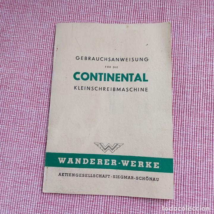 INSTRUCCIONES MÁQUINA DE ESCRIBIR-**CONTINENTAL(PORTATIL)**(EN ALEMÁN) ---ORIGINAL 100% (Antigüedades - Técnicas - Máquinas de Escribir Antiguas - Continental)