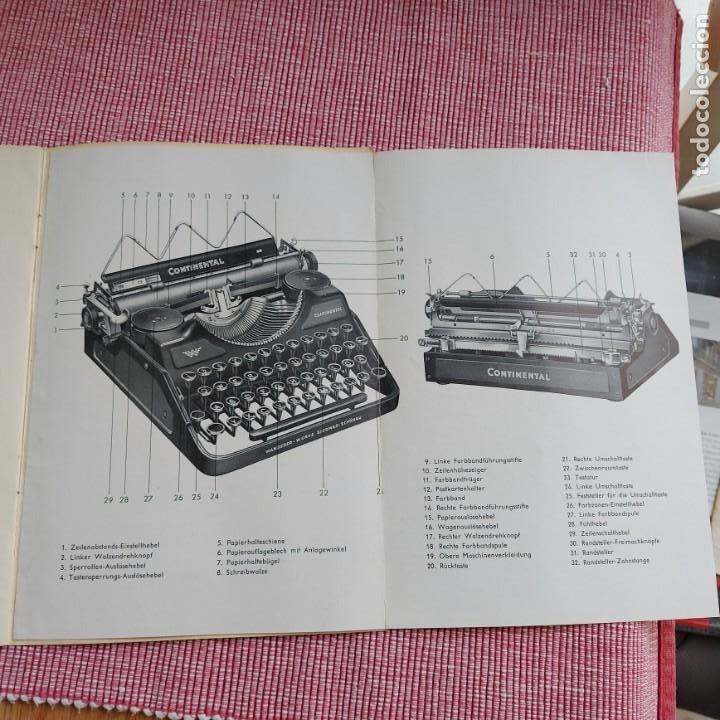 Antigüedades: Instrucciones Máquina de escribir-**CONTINENTAL(portatil)**(en ALEMÁN) ---ORIGINAL 100% - Foto 2 - 215011685