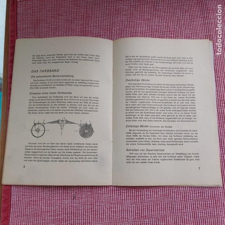 Antigüedades: Instrucciones Máquina de escribir-**CONTINENTAL(portatil)**(en ALEMÁN) ---ORIGINAL 100% - Foto 4 - 215011685