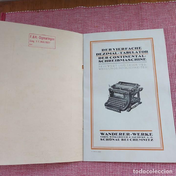 Antigüedades: Instrucciones Máquina de escribir*CONTINENTAL con TABULADOR/DECIMALES**(en ALEMÁN) -ORIGINAL 100% - Foto 3 - 215012337