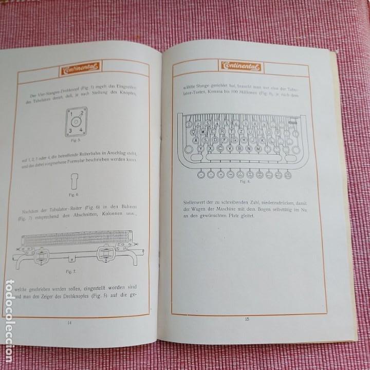 Antigüedades: Instrucciones Máquina de escribir*CONTINENTAL con TABULADOR/DECIMALES**(en ALEMÁN) -ORIGINAL 100% - Foto 4 - 215012337
