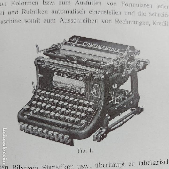 Antigüedades: Instrucciones Máquina de escribir*CONTINENTAL con TABULADOR/DECIMALES**(en ALEMÁN) -ORIGINAL 100% - Foto 2 - 215012337