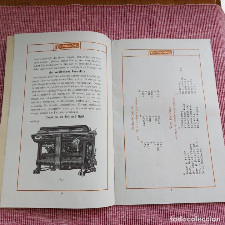 Antigüedades: Instrucciones Máquina de escribir*CONTINENTAL con TABULADOR/DECIMALES**(en ALEMÁN) -ORIGINAL 100% - Foto 5 - 215012337