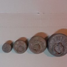 Antigüedades: LOTE DE 4 PESAS ANTIGUAS, VER FOTOS. Lote 215204088