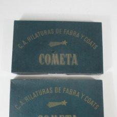 Antigüedades: CURIOSOS CAJONES HILATURAS DE FABRA Y COATS - COMETA - CON HILATURAS ALICANTINAS, ETC. Lote 215279127
