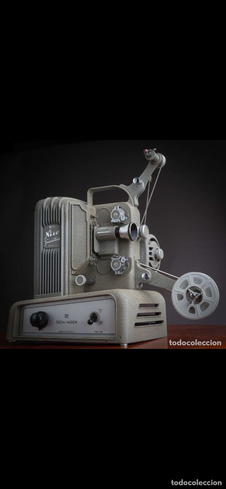 Antigüedades: Proyector Nizo Familia 8mm incluye caja y bombilla de repuesto - Foto 22 - 215303211