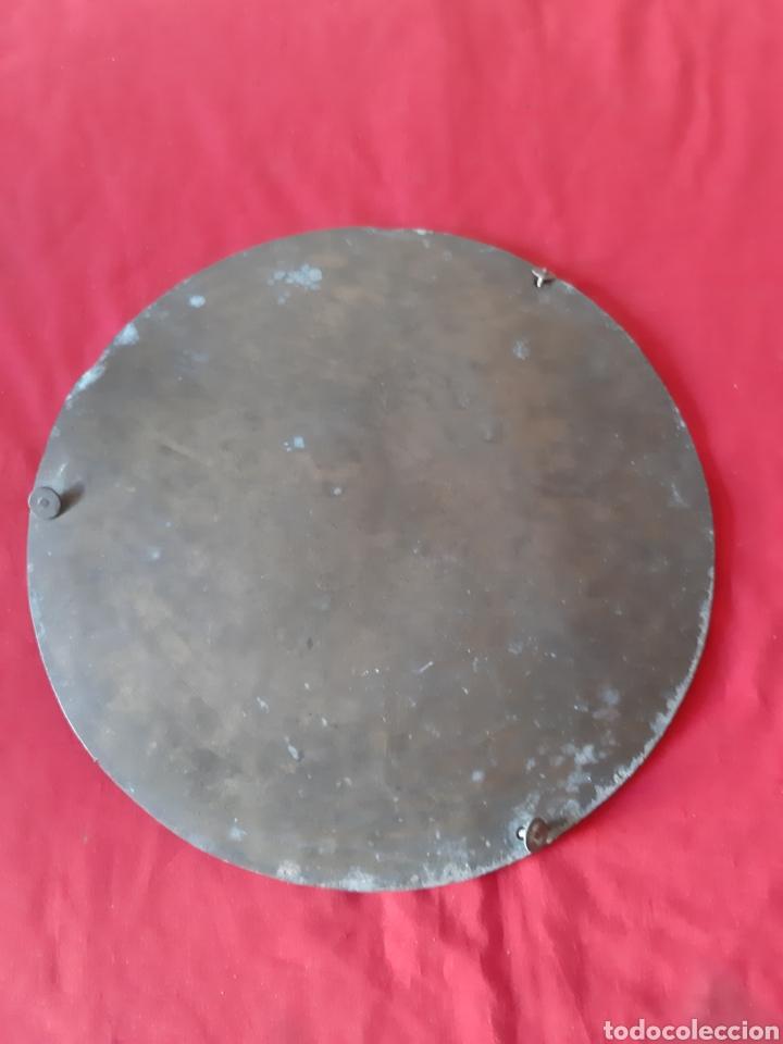 Antigüedades: Pareja de platos de bronce para romana con cadenas - Foto 5 - 215372781