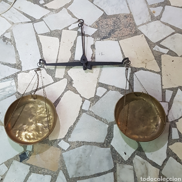 ANTIGUA BASCULA (Antigüedades - Técnicas - Medidas de Peso - Básculas Antiguas)