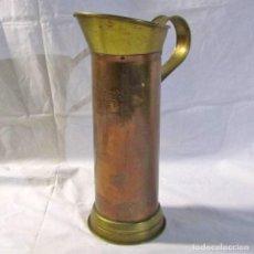 Antigüedades: JARRA DE COBRE Y LATÓN, MEDIDA DE 4 LITROS. Lote 215458003