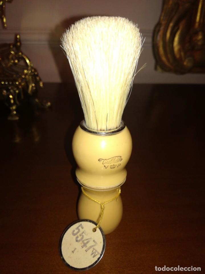 Antigüedades: Antigua brocha de afeitar sin uso oulkan - Foto 3 - 215574828