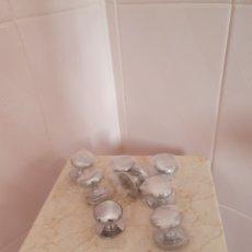 Antigüedades: LOTE DE OCHO POMOS DE METAL. Lote 215644672