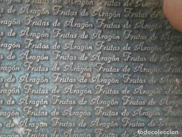¡¡ IMPRESIONANTE `PRECIOSO MOLDE DE IMPRENTA ¡¡AÑOS 1920 -1930 FRUTAS DE ARAGON (Antigüedades - Técnicas - Herramientas Profesionales - Imprenta)