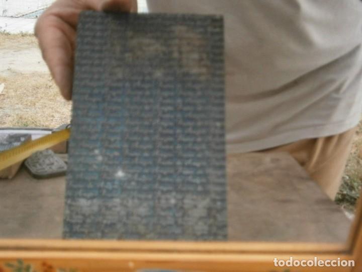 Antigüedades: ¡¡ IMPRESIONANTE `PRECIOSO MOLDE DE IMPRENTA ¡¡AÑOS 1920 -1930 FRUTAS DE ARAGON - Foto 2 - 215673293