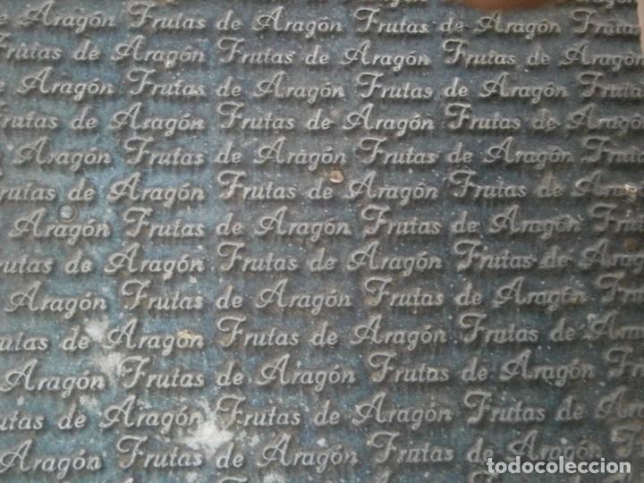 Antigüedades: ¡¡ IMPRESIONANTE `PRECIOSO MOLDE DE IMPRENTA ¡¡AÑOS 1920 -1930 FRUTAS DE ARAGON - Foto 5 - 215673293