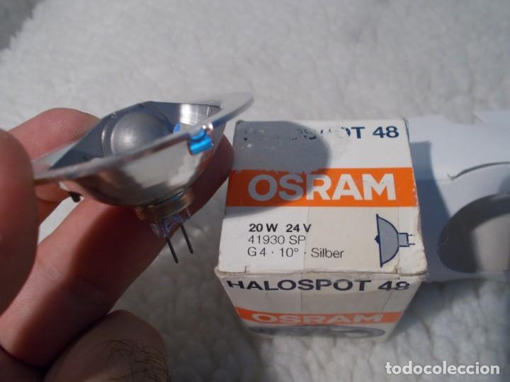 ENVIO 3€ LAMPARA 24V 20W OSRAM G4 BOMBILLA PARA PROYECTOR DE CINE SUPER8. (Antigüedades - Técnicas - Aparatos de Cine Antiguo - Proyectores Antiguos)