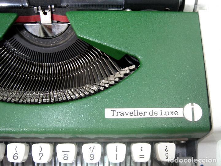 Antigüedades: PERFECTA¡¡ OLYMPIA TRAVELLER DE LUXE -COLOR VERDE CON Ñ- MAQUINA DE ESCRIBIR 1972/73 - OLIMPIA - Foto 3 - 215709852