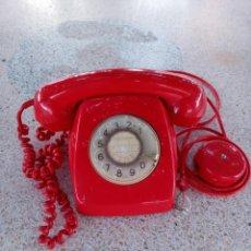 Teléfonos: TELEFONO ROJO ANTIGUO DE DISCO - TELEFONICA - AÑOS 60 / 70- HERALDO CITESA - MALAGA -USADO VER FOTOS. Lote 215822351