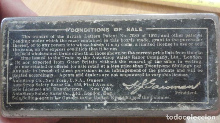 Antigüedades: ANTIGUA MAQUINILLA DE AFEITAR.VALET AUTOSTROP.MODELO B AJUSTABLE.LONDON.CANADA 1914? - Foto 11 - 215873088