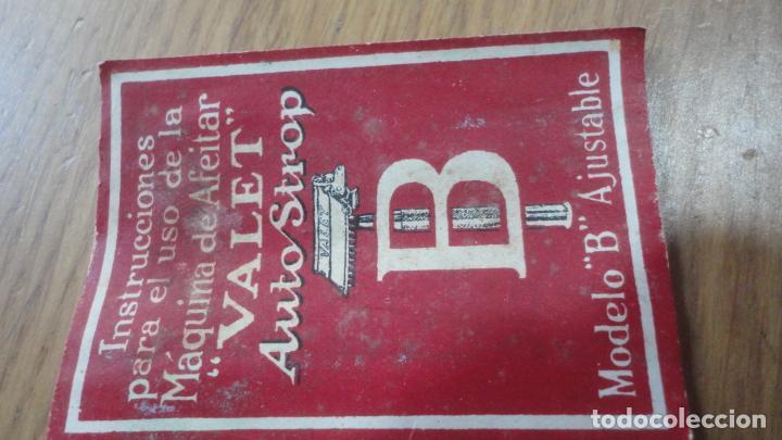 Antigüedades: ANTIGUA MAQUINILLA DE AFEITAR.VALET AUTOSTROP.MODELO B AJUSTABLE.LONDON.CANADA 1914? - Foto 12 - 215873088