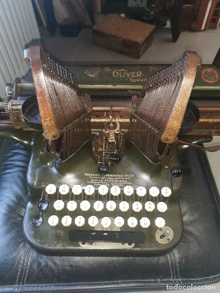 Antigüedades: Máquina de escribir americana, the Oliver typewriter. Número 5.1909 - Foto 2 - 215897580