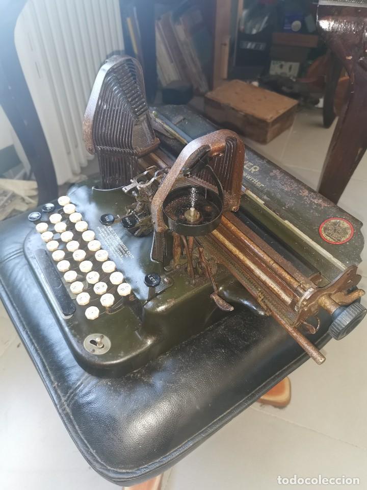 Antigüedades: Máquina de escribir americana, the Oliver typewriter. Número 5.1909 - Foto 7 - 215897580