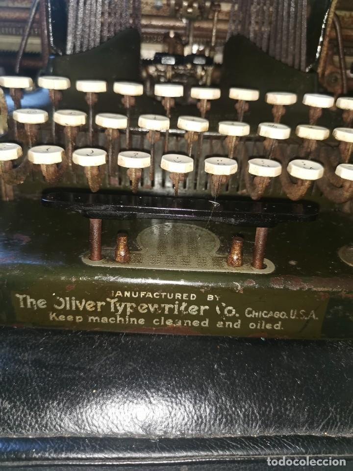 Antigüedades: Máquina de escribir americana, the Oliver typewriter. Número 5.1909 - Foto 9 - 215897580