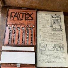 """Antigüedades: ÁBACO DE RANURAS FALTEX, CON MECANISMO EQUIVALENTE A """"MULTIX"""", AÑO 1920 - CALCULADORA. Lote 215910067"""
