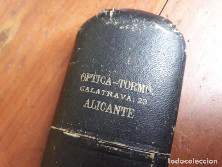 Antigüedades: GAFAS REDONDAS CON FUNDA ORIGINAL - OPTICA TORMO - Foto 6 - 215917272