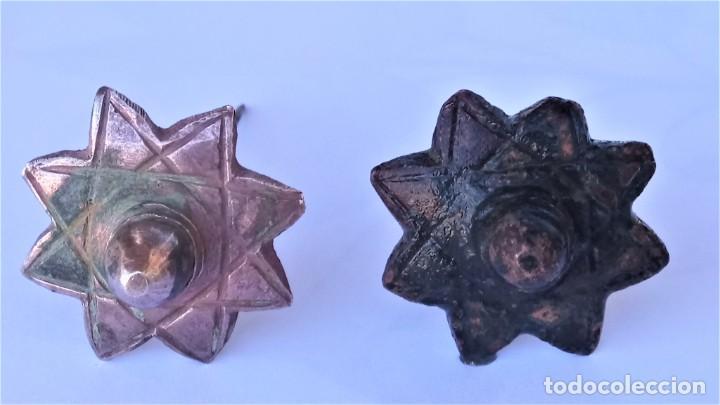 Antigüedades: 10 CLAVOS DE FORJA SIGLO XV,ARABE-MUSULMAN,EPOCA REINO DE GRANADA,ESTRELLA 8 PUNTAS DEL CORAN, ISLAM - Foto 5 - 215932813