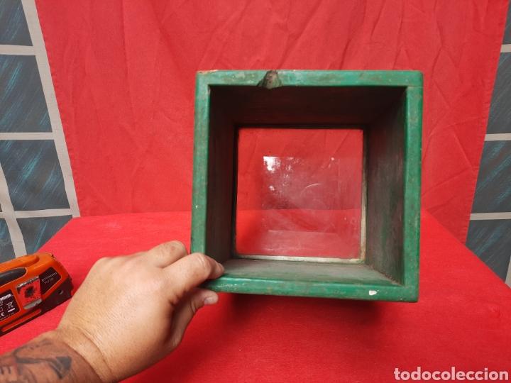 Antigüedades: Antiguo mirándonos/ batiscopio marinero de madera - Foto 2 - 215964575