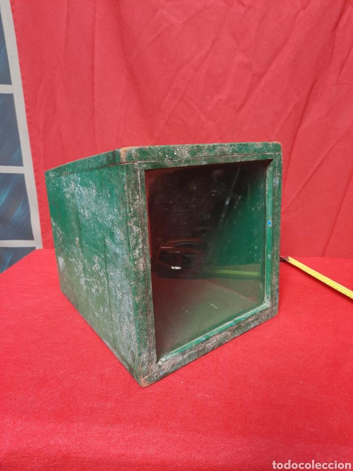 Antigüedades: Antiguo mirándonos/ batiscopio marinero de madera - Foto 7 - 215964575