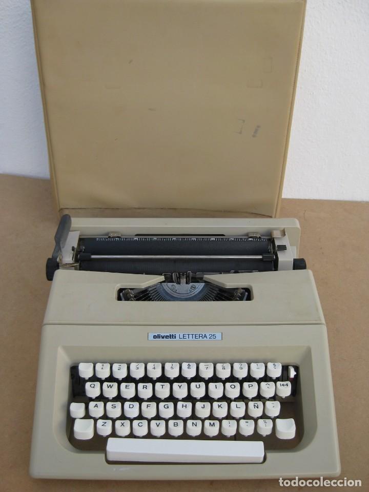 MAQUINA ESCRIBIR OLIVETTI LETTERA 25 (Antigüedades - Técnicas - Máquinas de Escribir Antiguas - Olivetti)