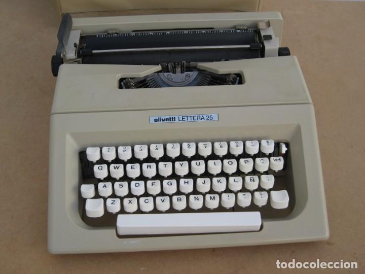 Antigüedades: Maquina escribir Olivetti Lettera 25 - Foto 2 - 215983865