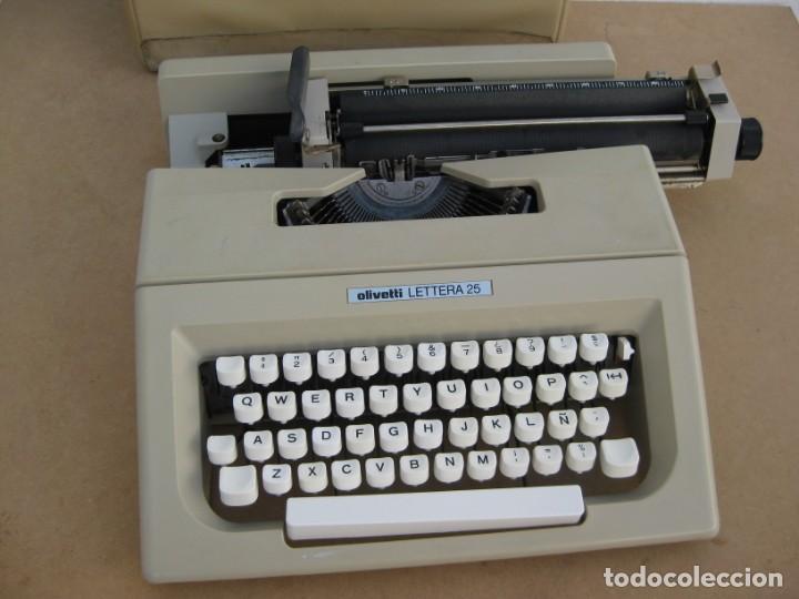 Antigüedades: Maquina escribir Olivetti Lettera 25 - Foto 4 - 215983865