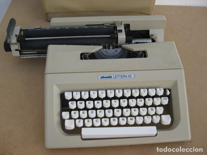 Antigüedades: Maquina escribir Olivetti Lettera 25 - Foto 5 - 215983865