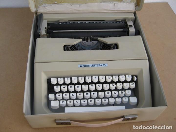 Antigüedades: Maquina escribir Olivetti Lettera 25 - Foto 18 - 215983865