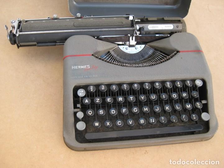 Antigüedades: Maquina escribir antigua. Hermes Baby. Suisse. - Foto 3 - 215985987