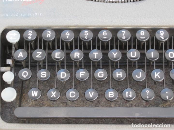 Antigüedades: Maquina escribir antigua. Hermes Baby. Suisse. - Foto 7 - 215985987