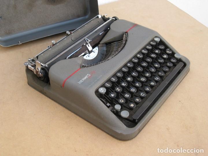 Antigüedades: Maquina escribir antigua. Hermes Baby. Suisse. - Foto 12 - 215985987