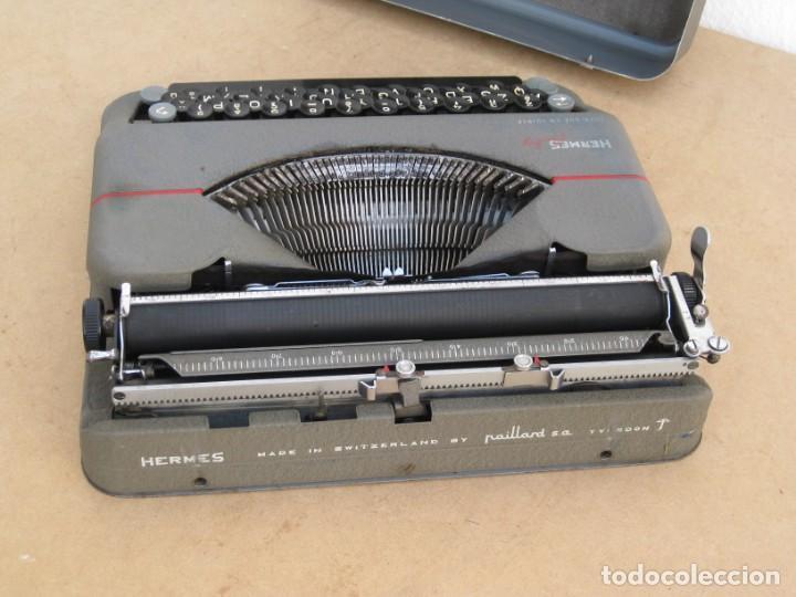 Antigüedades: Maquina escribir antigua. Hermes Baby. Suisse. - Foto 15 - 215985987