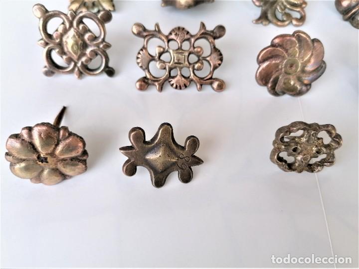 Antigüedades: COLECCION 19 ANTIGUOS BRONCES DECORATIVOS SIGLO XIX, PARA MUEBLES,BARCOS,CARROZAS,CABALLOS,CATALUNYA - Foto 2 - 216357080