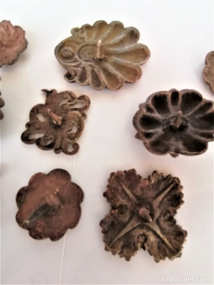 Antigüedades: COLECCION 19 ANTIGUOS BRONCES DECORATIVOS SIGLO XIX, PARA MUEBLES,BARCOS,CARROZAS,CABALLOS,CATALUNYA - Foto 12 - 216357080
