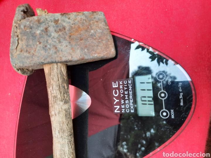 Antigüedades: Antiguo martillo pedrero p.s XX - Foto 9 - 216375175